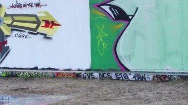 Graffiti Wall — Stock Video