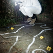 Crime scene photographer - Stock Photo