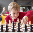 Young chess player at a tournament — Stock Photo