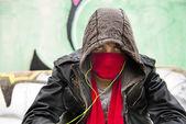 Hooded figure — Stock Photo
