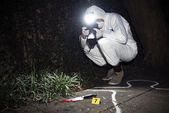 Forensics researcher — Stock Photo