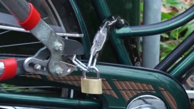 Krádež kola — Stock video