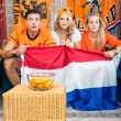 Curious Soccer Fans Watching Match At Home — Stock Photo #30846995