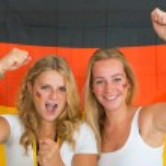German sports fans — Stock Photo #30847053