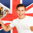 British Sports fan — Stock Photo