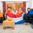 Stock Photo: Dissillusioned Dutch sports fans