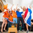 Ecstatic Dutch fans — Stock Photo
