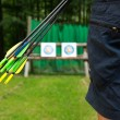 Person with arrows — Stock Photo #31412345