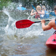 People kayaking — Stock Photo