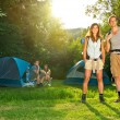 Camping and Hiking — Stock Photo