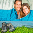 Couple on camping — Stock Photo