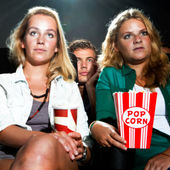 Cinema crowd — Stock Photo