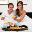 Breakfast in bed — Stock Photo #31971635