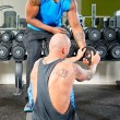 Stock Photo: Personal trainer at work