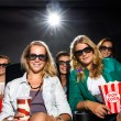 Young Friends Watching 3D Movie In Theater — Stock Photo #32960791