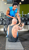 Personal trainer at work — Stockfoto