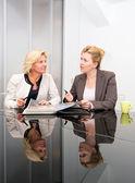 ženy starší obchodní setkání — Stock fotografie