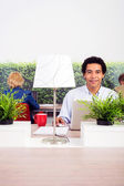Confident Environmentalist In Office — Stock Photo