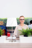 Beautiful Environmentalist In Office — Stock Photo