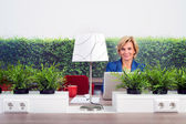 Confident Female Environmentalist In Office — Stock Photo