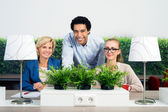 Portrait Of Confident Environmentalists In Office — Stock Photo