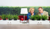 Environmentalists Working At Desk In Office — Stock Photo