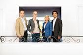 Project team on balcony — Stock Photo