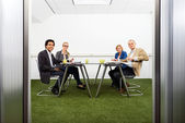 Meeing in a sustainable conference room — Stock Photo