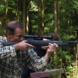 Stock Video: Air gun shooting instructor