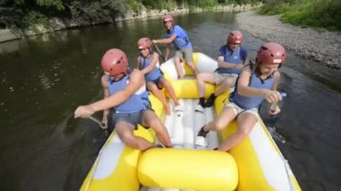 Rafting — Video Stock