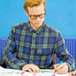 Stock Photo: Sketching Designer