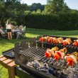 Barbecue in the backyard — Stock Photo