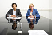 Two managers — Stock Photo