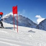 Ski School Slalom — Stock Photo