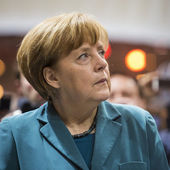 Portrait of Angela Merkel chancellor of Germany — Stock Photo