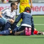 ������, ������: Injured hockey player