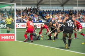 Korea beats New Zealand during the Hockey World Cup 2014 — Stock Photo