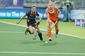 World Cup Hockey: Netherlands vs Belgium — Stock Photo