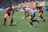 World Cup Hockey 2014 - England vs USA women — Stock Photo