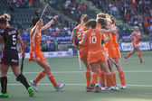 Dutch team celebrating a goal — Stock Photo