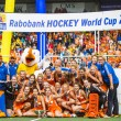 Netherlands women become world champions hockey — Stock Photo #48109453