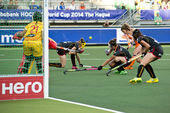 World Cup Hockey: Netherlands - Belgium — Stok fotoğraf