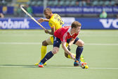 World Cup Hockey: England vs India — Stock Photo