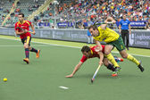 World Cup Hockey: Australia vs Spain — Stock Photo