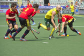 World Cup Hockey: Australia vs Spain — Foto Stock