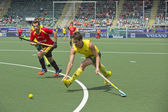 World Cup Hockey: Australia vs Spain — Стоковое фото