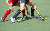 Field hockey close up — Stock Photo