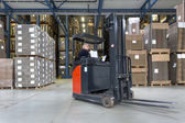 Reach Truck in warehouse — Stock Photo