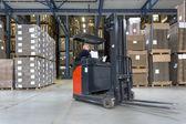 Reach Truck in warehouse — Stock Photo