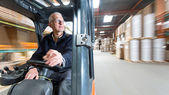 Forklift ride — Stock Photo